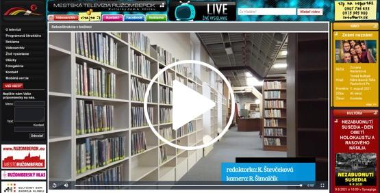 Video ukážka Mestskej televízie Ružomberok